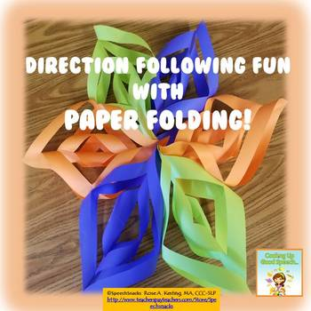 Direction Following and Sequencing for Older Students with Paper Folding {FREE}