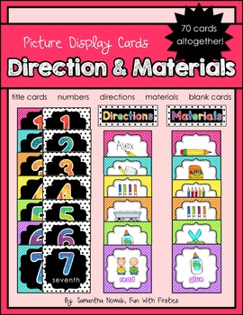 Direction & Materials Picture Display Cards
