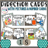 Direction Picture Cards (Rustic Wood)