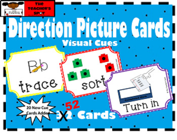 Direction Picture Cards - Visual Cue Cards