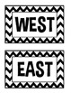 Direction Signs- Black and White Chevron