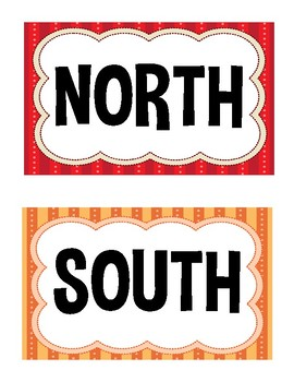Direction Signs- Multi-colored