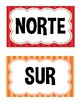 Direction Signs- Multi-colored, English and Spanish