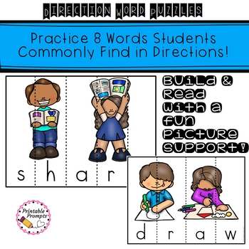 Direction Verbs- Word Puzzles