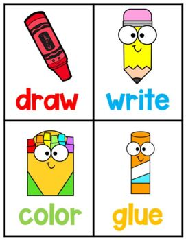 Direction Word Wall Cards
