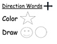 Direction Words Slips and Chart