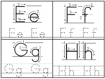 Directional Alphabet 4x5 Tracing Cards