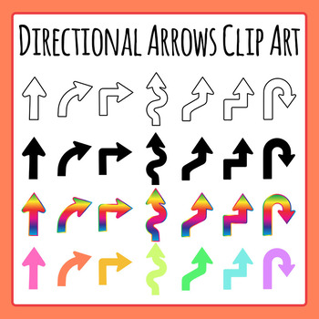 Directional Arrows Clip Art Set for Commercial Use