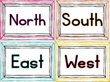FREE Directional Cards (North, South, East & West)