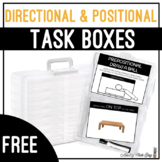 Directional & Positional Task Boxes - Prepositional Draw The Ball