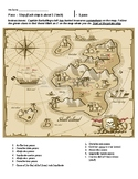 Directional / Prepositional Words Treasure Map Handout