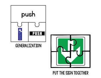 Directional Sign Puzzles (Special Education)
