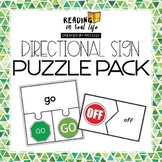 Directional Sign Puzzles {Reading in Real Life: Signs}