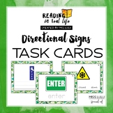 Directional Sign Task Cards {Reading in Real Life}