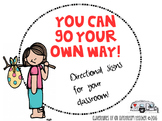 Directional Signs for your classroom