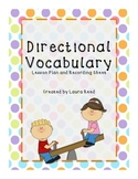 Directional Vocabulary Lesson Plan and Activity Sheet- EFL/ESL