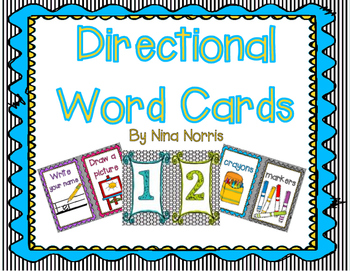 Directional Word Cards