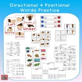 Directional and Positional Words Practice Pack