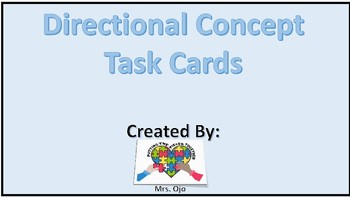 Directional concept task cards
