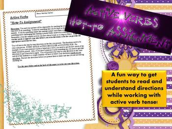 Directions Activity: How-To Assignment