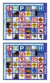 Road Signs and Directions Legal Size Photo Battleship Game