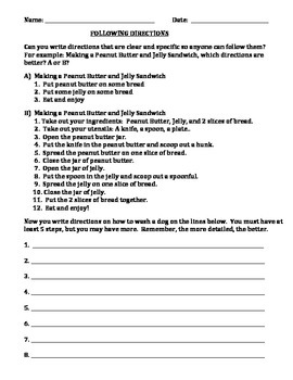 DIRECTIONS:  Can Your Students Follow Directions? (GRADES 4 - 7)