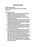 Directions Game for 15 Minute Filler Activity--Humor