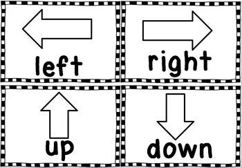 Directions: Left, Right, Up, Down.