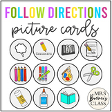 Directions Picture Cards   Follow Directions Visuals