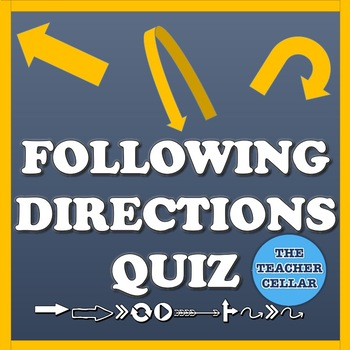 Directions Quiz/How Well Do You Follow Directions