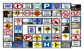 Road Signs-Directions Animated Board Game