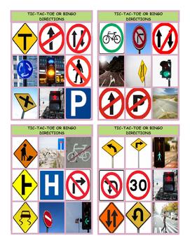 Directions Tic-Tac-Toe or Bingo