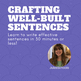 Directions for Crafting Well-Built Sentences Activities