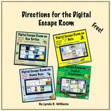 Directions for Escape Rooms Bundle