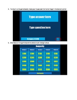 Directions for Jeopardy Template (ppt)