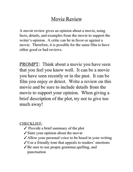 Directions for Movie Review