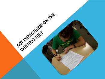 Directions for Writing Section of ACT Test