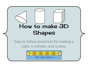 Directions for making 3D shapes