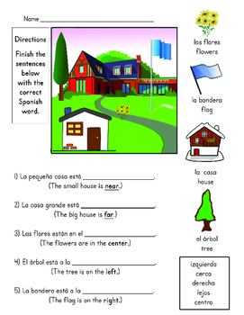 Directions in Spanish Activities & Games