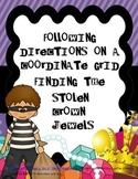 Coordinate Grid Treasure Map: The Stolen Crown Jewels Math Activities