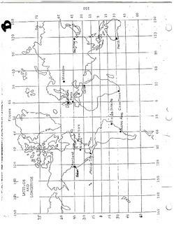 Directions on a Globe Packet (Latitude/Longitude)