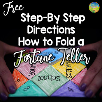 Directions to Fold a Fortune Teller Craft