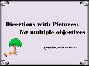 Directions with Pictures: for multiple objectives