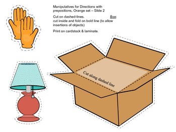 Following Directions with Prepositions Activity Pack Orange Level - Common Core