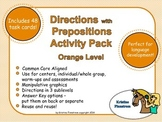 Following Directions with Prepositions Activity Pack Orang