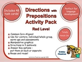 Directions with Prepositions Activity Pack - Red Level - C
