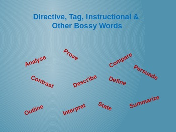 Directive, Tag, Instructional & Other Bossy Words