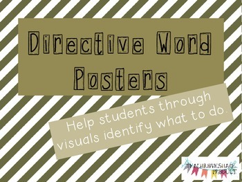 Directive Word Posters