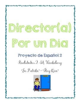 Director por un dia - Realidades 2 : 1A Project