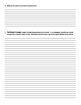 Director's Concept Worksheet